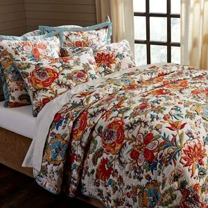 Meredith Queen Quilt Floral Reversible Farmhouse